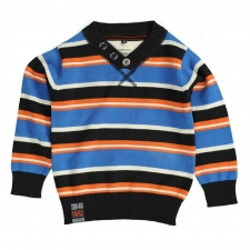 Pull - 1746 - Bleu/Orange large